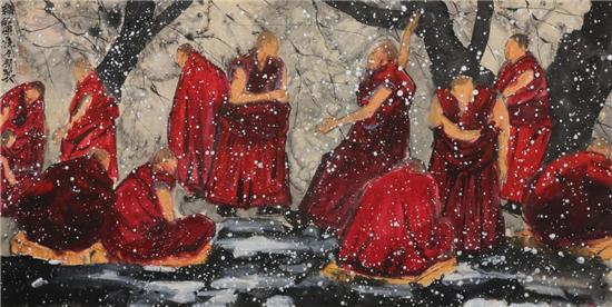 寇月朋《清净世界》作品发布会在万恒艺术馆成功举办