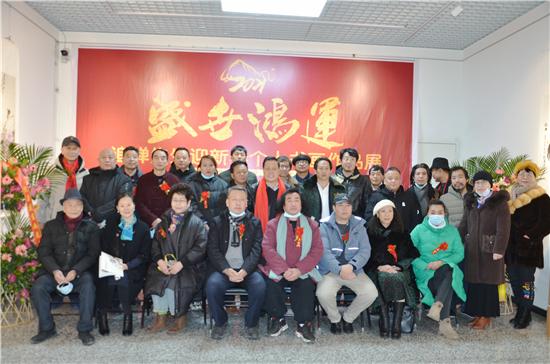 盛世鸿运――追禅先生迎新春个人书画作品展在北京嘉利艺术馆成功开幕