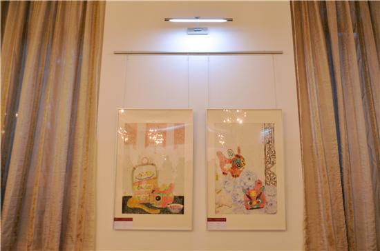 常美娟国画艺术亮相斯洛伐克驻华大使馆