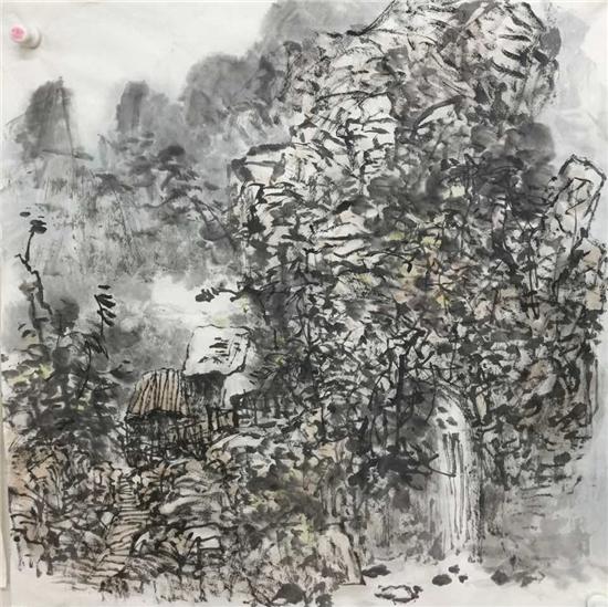笔墨丹青绘苍山--田莉山水画作品欣赏