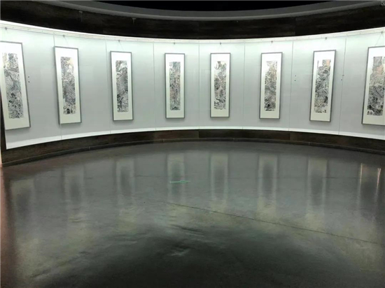 孙本见――山水画作品展在侨乡美术馆开幕