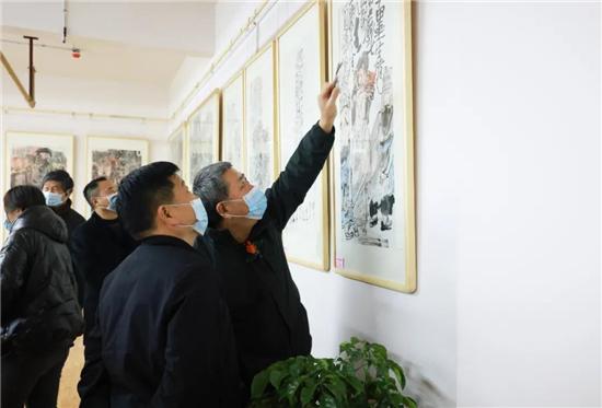 千年古镇,孙本见,国画